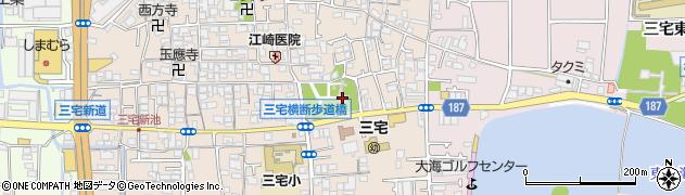 屯倉神社周辺の地図