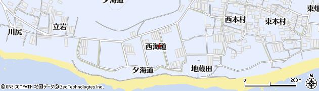 愛知県田原市和地町(西海道)周辺の地図