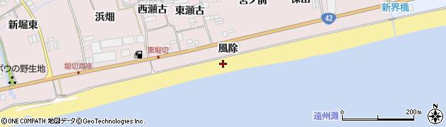 愛知県田原市堀切町(風除)周辺の地図