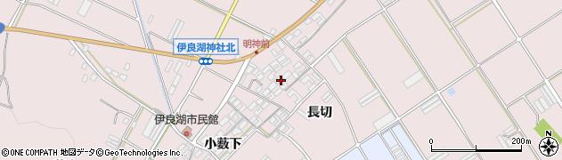 愛知県田原市伊良湖町(長切)周辺の地図