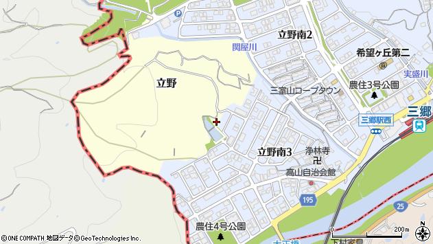 〒636-0823 奈良県生駒郡三郷町立野の地図