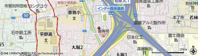 大阪府松原市大堀周辺の地図