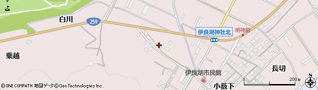 愛知県田原市伊良湖町(新田)周辺の地図