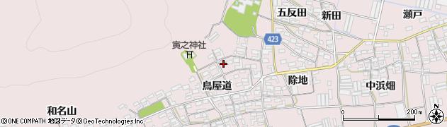 愛知県田原市堀切町(鳥屋道)周辺の地図