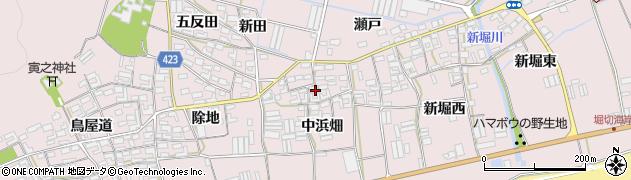 愛知県田原市堀切町(中浜畑)周辺の地図