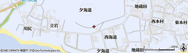 愛知県田原市和地町(夕海道)周辺の地図