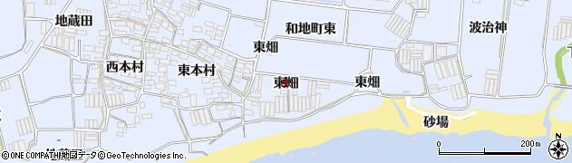愛知県田原市和地町(東畑)周辺の地図