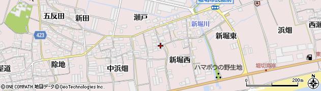 愛知県田原市堀切町周辺の地図