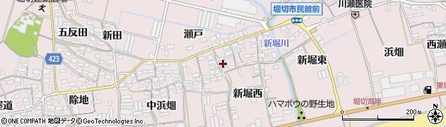 愛知県田原市堀切町(新堀西)周辺の地図