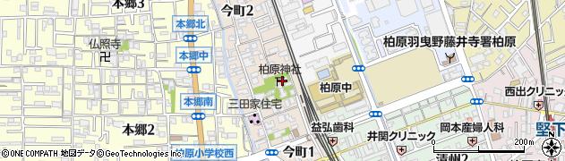 柏原神社周辺の地図
