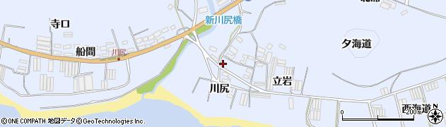 愛知県田原市和地町(川尻)周辺の地図