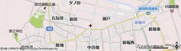 愛知県田原市堀切町(新田)周辺の地図