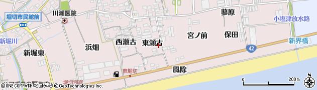 愛知県田原市堀切町(東瀬古)周辺の地図
