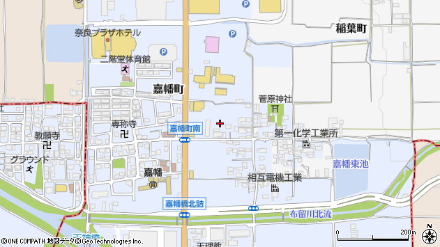 〒632-0084 奈良県天理市嘉幡町の地図