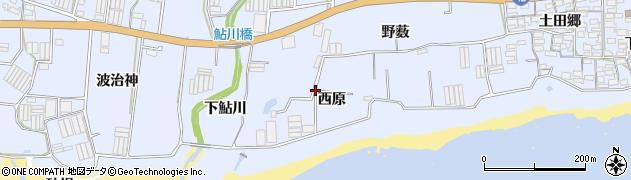 愛知県田原市和地町(西原)周辺の地図