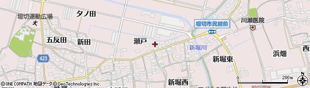 愛知県田原市堀切町(瀬戸)周辺の地図