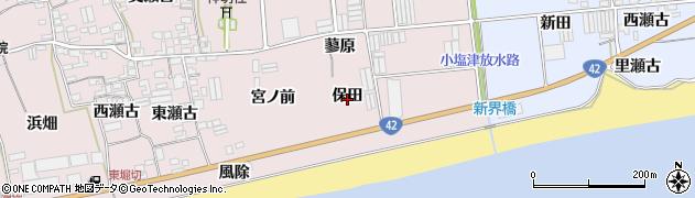 愛知県田原市堀切町(保田)周辺の地図