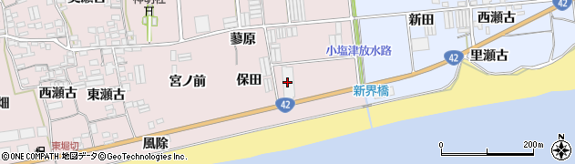愛知県田原市堀切町(宮東)周辺の地図