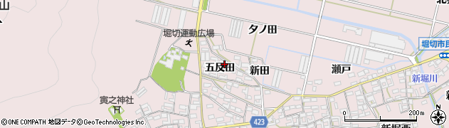 愛知県田原市堀切町(五反田)周辺の地図
