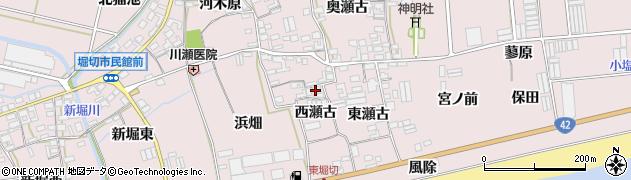 愛知県田原市堀切町(西瀬古)周辺の地図