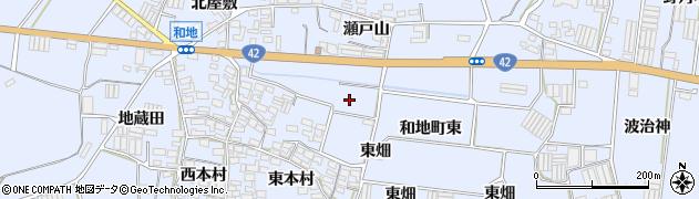 愛知県田原市和地町(岩畑)周辺の地図
