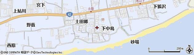 愛知県田原市和地町(下中島)周辺の地図