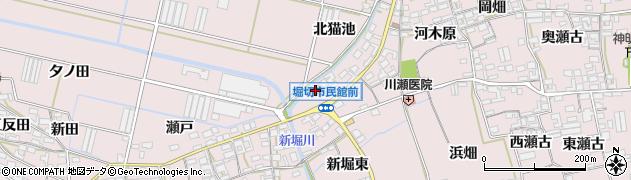 愛知県田原市堀切町(西猫池)周辺の地図