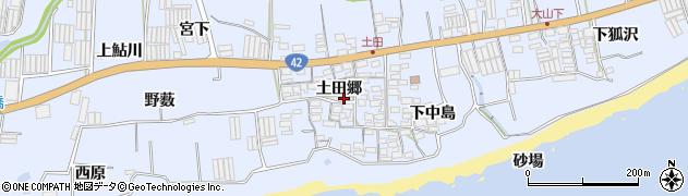 愛知県田原市和地町(土田郷)周辺の地図