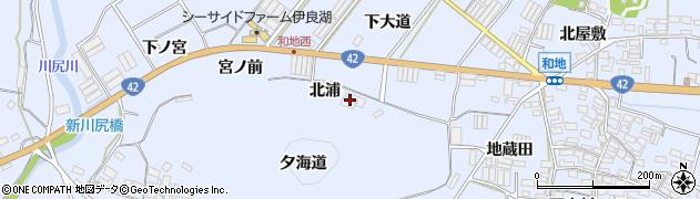 愛知県田原市和地町(北浦)周辺の地図