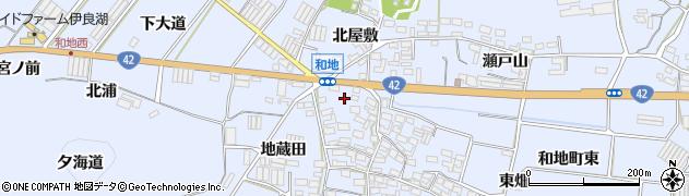 愛知県田原市和地町周辺の地図