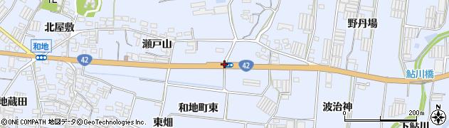 和地小学校南周辺の地図