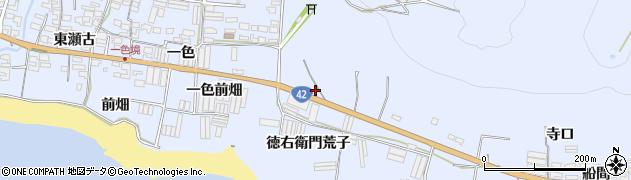 愛知県田原市和地町(徳右衛門荒子)周辺の地図