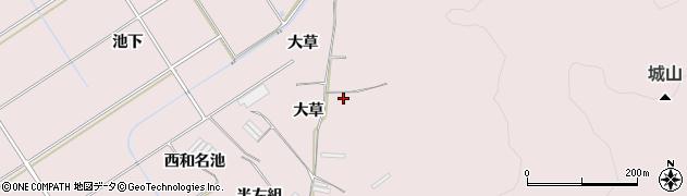 愛知県田原市堀切町(大草)周辺の地図