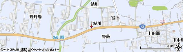 愛知県田原市和地町(上鮎川)周辺の地図