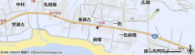 愛知県田原市和地町(前畑)周辺の地図