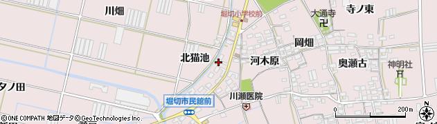 愛知県田原市堀切町(北猫池)周辺の地図