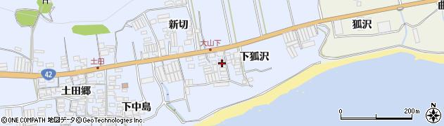 愛知県田原市和地町(下狐沢)周辺の地図