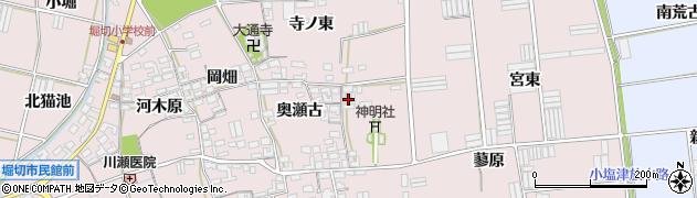愛知県田原市堀切町(宮裏)周辺の地図