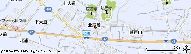 愛知県田原市和地町(北屋敷)周辺の地図