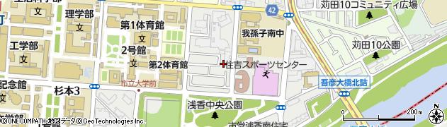 大阪府大阪市住吉区浅香1丁目 住所一覧から地図を検索