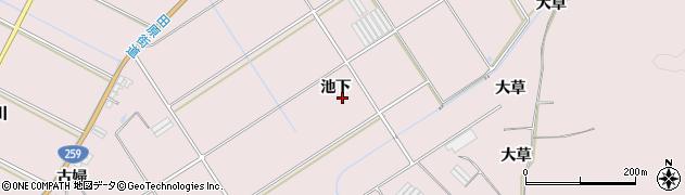 愛知県田原市伊良湖町(池下)周辺の地図