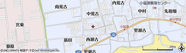 愛知県田原市小塩津町(中荒古)周辺の地図