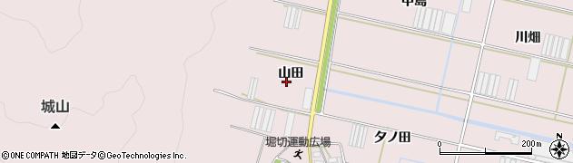 愛知県田原市堀切町(山田)周辺の地図