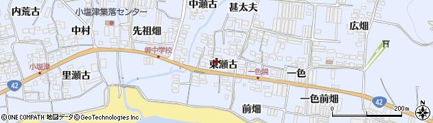愛知県田原市小塩津町(東瀬古)周辺の地図