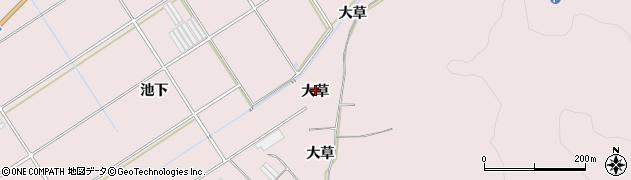 愛知県田原市伊良湖町(大草)周辺の地図
