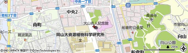 岡山県倉敷市中央周辺の地図
