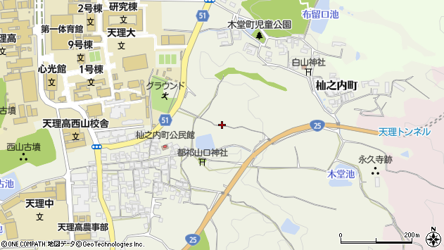 〒632-0032 奈良県天理市杣之内町の地図