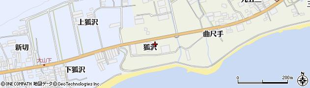 愛知県田原市越戸町(狐沢)周辺の地図