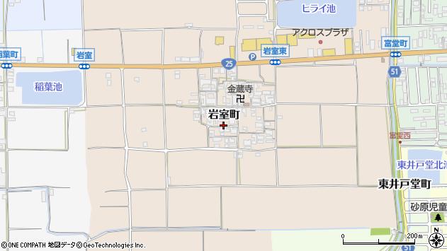 〒632-0076 奈良県天理市岩室町の地図