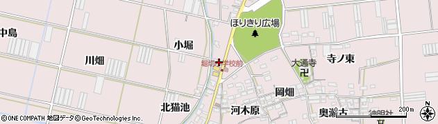 愛知県田原市堀切町(小堀)周辺の地図